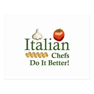 ITALIAN CHEFS POSTCARD