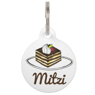 Italian Chocolate Tiramisu Foodie Dog Pet Tag