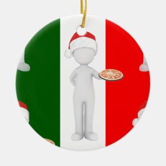 italian christmas ceramic ornament