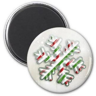 Italian Christmas Snowflake Magnet