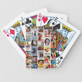 Italian cinema bicycle playing cards