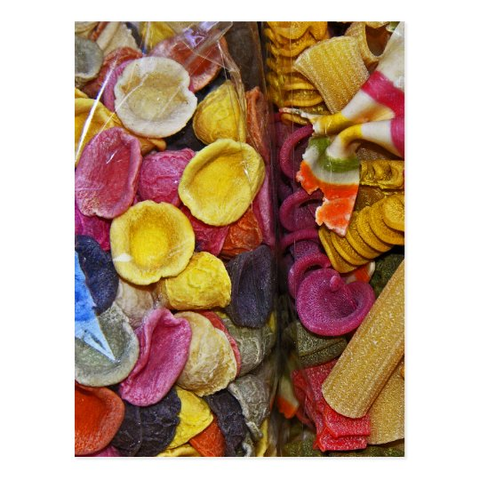 Italian Coloured Pasta Shapes (1) Postcard