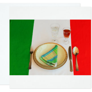 italian cooking   invitation card