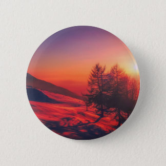 Italian Countryside at Dusk 2 Inch Round Button
