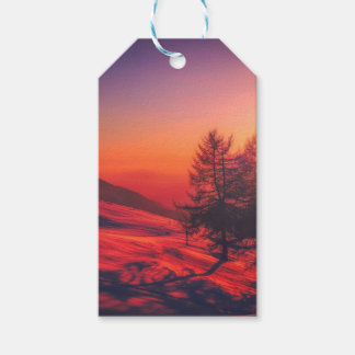 Italian Countryside at Dusk Gift Tags