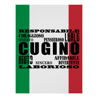 Italian Cousins : Qualities Poster