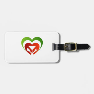 Italian cuisine luggage tag