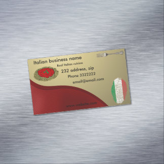 Italian cuisine 	Magnetic business card