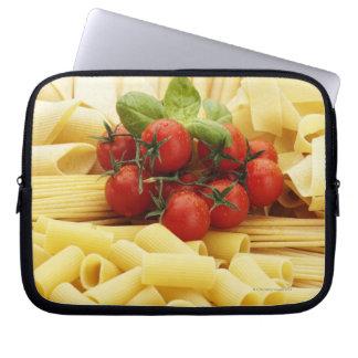 Italian cuisine. Pasta and tomatoes. Laptop Sleeve