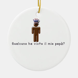 Italian-Daddy Ceramic Ornament