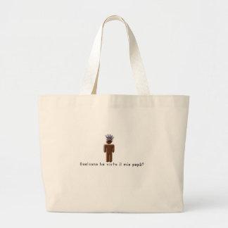 Italian-Daddy Large Tote Bag