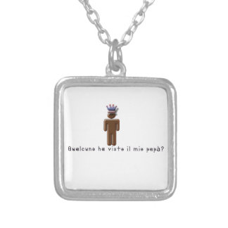 Italian-Daddy Silver Plated Necklace
