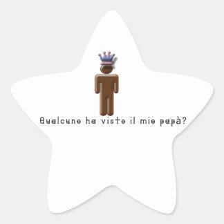 Italian-Daddy Star Sticker