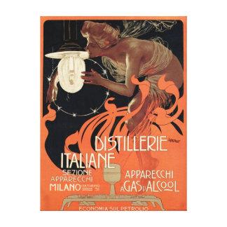 Italian Distillery Vintage Art Nouveau Liquor Canvas Print