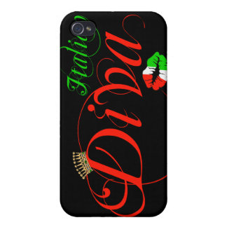 Italian Diva Black Background iPhone 4/4S Case