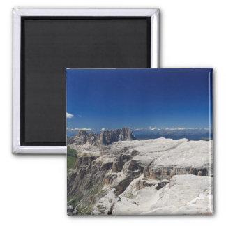 Italian Dolomites - Sella Group Square Magnet
