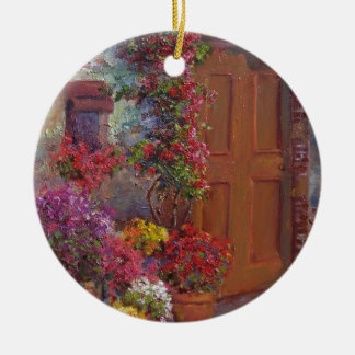 Italian Doorway Ceramic Ornament