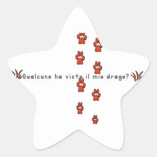 Italian-Dragon Star Sticker