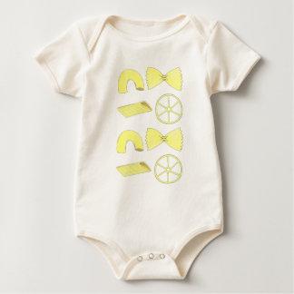 Italian Elbow Macaroni Penne Bowtie Pasta Foodie Baby Bodysuit
