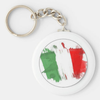 Italian Fashion Flag Keychain