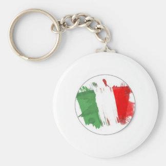 Italian Fashion Flag Keychain
