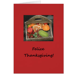 italian felice thanksgiving autumn fruits card