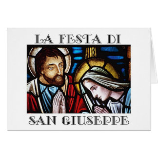 Italian Festa di San Giuseppe- Feast of St. Jos Card