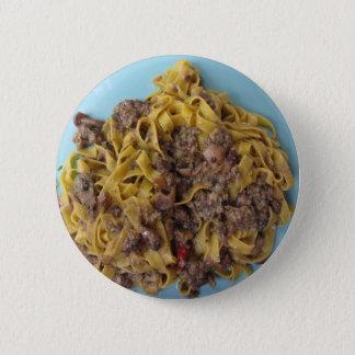 Italian fettuccine pasta with porcini mushrooms 2 inch round button