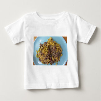 Italian fettuccine pasta with porcini mushrooms baby T-Shirt