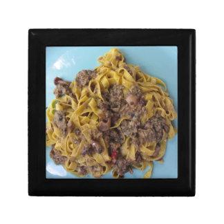 Italian fettuccine pasta with porcini mushrooms gift box