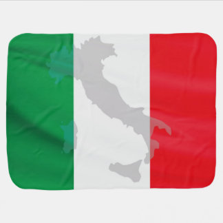 italian flag and Italy Baby Blanket
