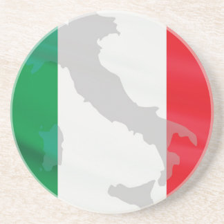 italian flag and Italy Beverage Coaster