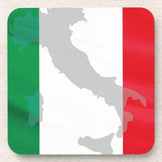 italian flag and Italy Beverage Coasters