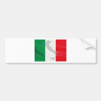 italian flag and Italy Bumper Sticker