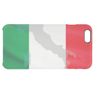 italian flag and Italy Clear iPhone 6 Plus Case