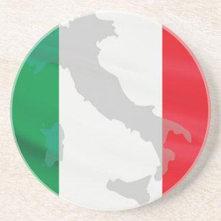 italian flag and Italy Drink Coaster