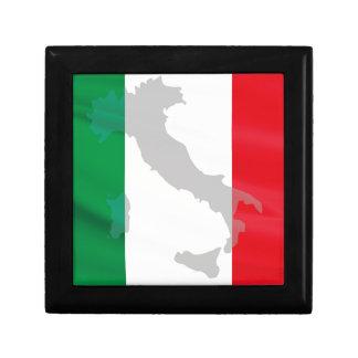 italian flag and Italy Gift Box