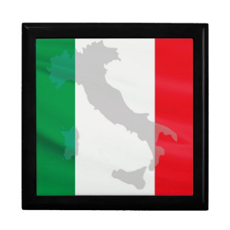 italian flag and Italy Gift Boxes