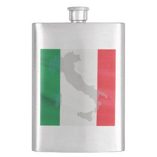 italian flag and Italy Hip Flask