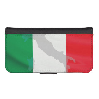 italian flag and Italy iPhone SE/5/5s Wallet Case