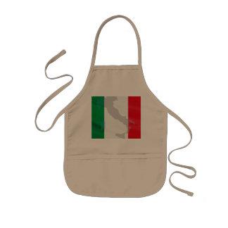 italian flag and Italy Kids Apron