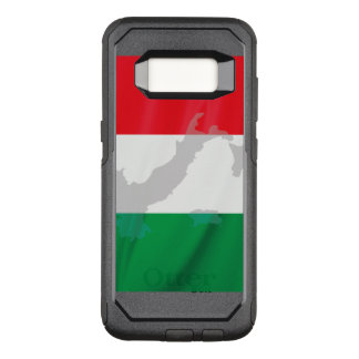 italian flag and Italy OtterBox Commuter Samsung Galaxy S8 Case
