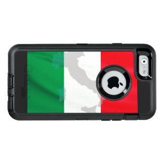 italian flag and Italy OtterBox iPhone 6/6s Case