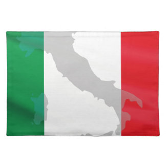 italian flag and Italy Placemat