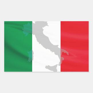 italian flag and Italy Sticker