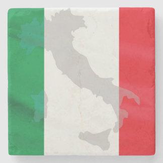 italian flag and Italy Stone Coaster