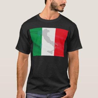 italian flag and Italy T-Shirt