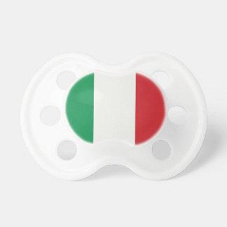 Italian flag baby pacifiers