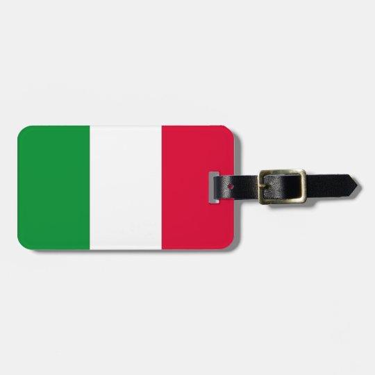 Italian Flag Bag Tag