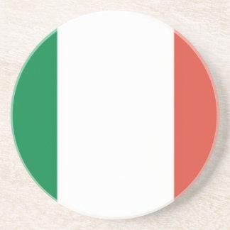 italian flag beverage coaster